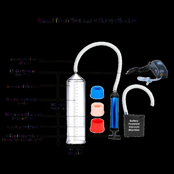 Blue piston penis vacuum pump specs